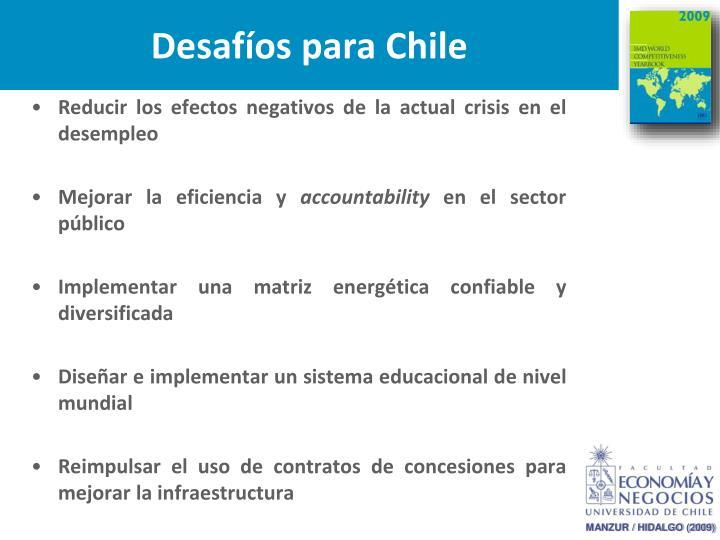 Desafíos para Chile