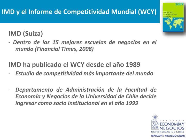 IMD y el Informe de Competitividad Mundial (WCY)