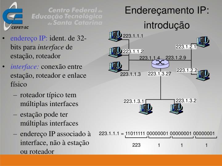endereço IP: