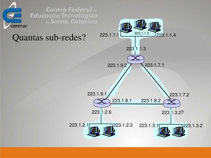 Quantas sub-redes?