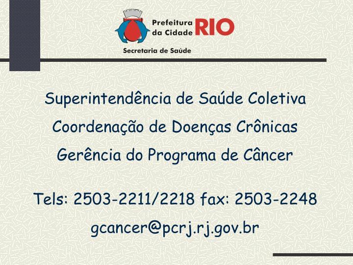Superintendência de Saúde Coletiva
