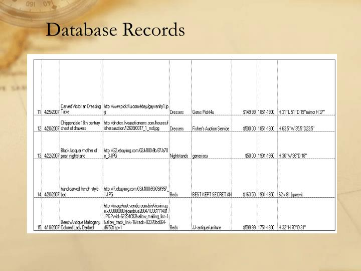 Database Records