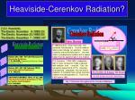 heaviside cerenkov radiation