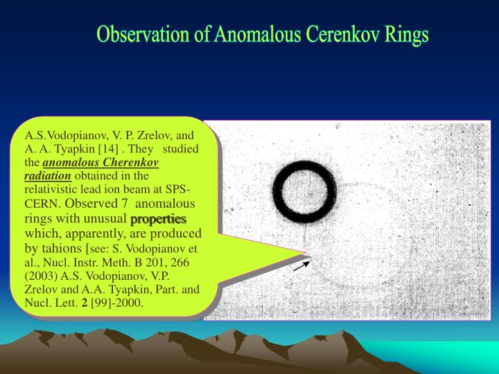 Observation of Anomalous Cerenkov Rings