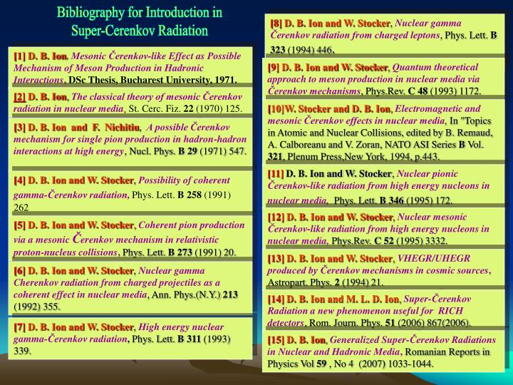 Bibliography for Introduction in