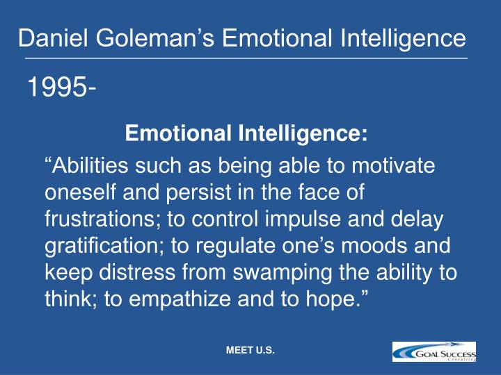 Daniel Goleman's Emotional Intelligence