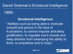 daniel goleman s emotional intelligence
