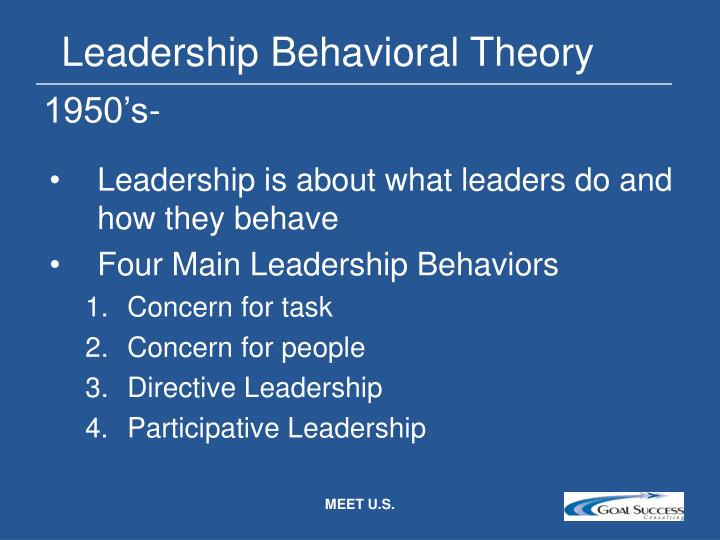 Leadership Behavioral Theory