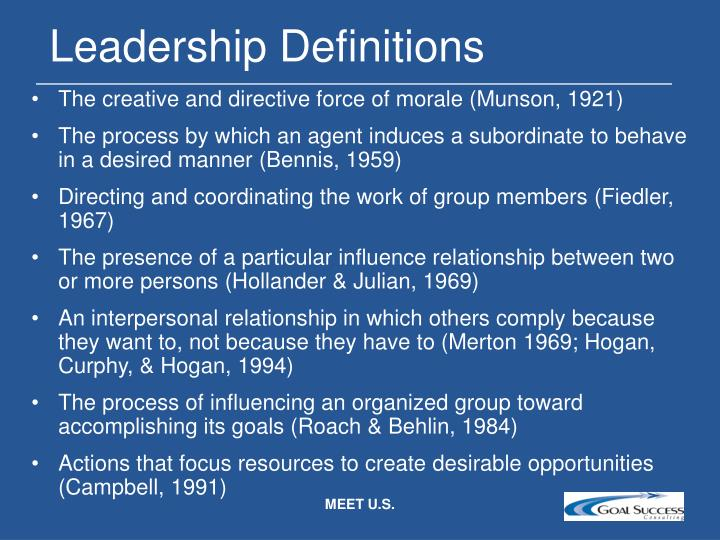 Leadership Definitions