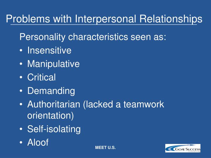 Problems with Interpersonal Relationships