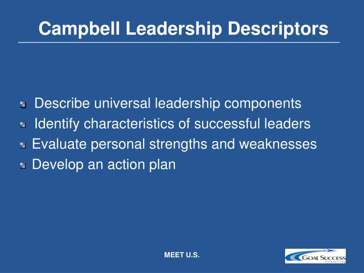 Campbell Leadership Descriptors