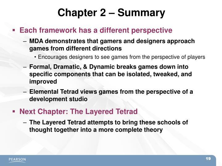 Chapter 2 – Summary