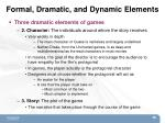 formal dramatic and dynamic elements5