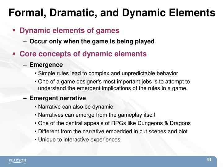 Formal, Dramatic, and Dynamic Elements
