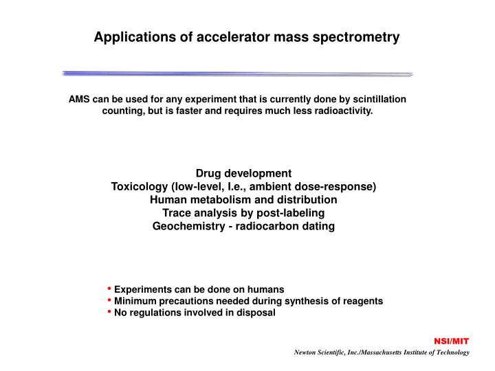Applications of accelerator mass spectrometry