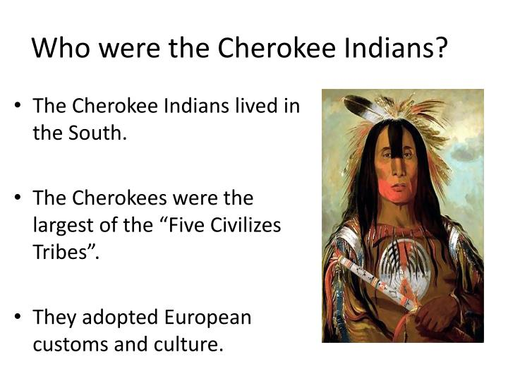 Who were the Cherokee Indians?