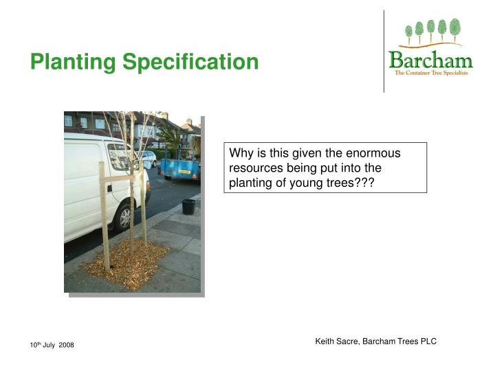 Planting Specification