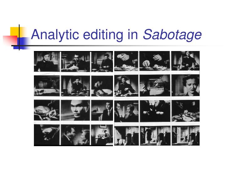 Analytic editing in