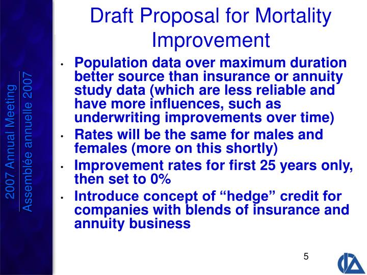 Population data over maximum duration better source than insurance or annuity study data (which are less reliable and have more influences, such as underwriting improvements over time)