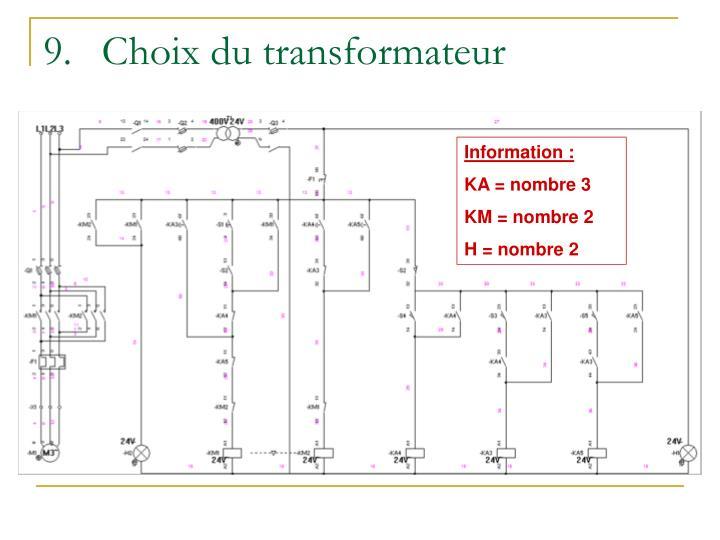 Choix du transformateur