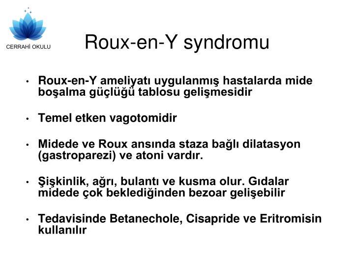 Roux-en-Y syndromu