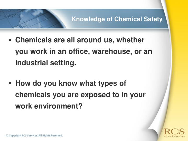 Knowledge of chemical safety