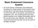 basic endowment insurance system2