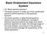 basic endowment insurance system3