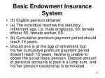 basic endowment insurance system4