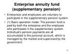 enterprise annuity fund supplementary pension