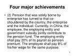 four major achievements1