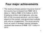 four major achievements2