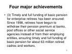 four major achievements3
