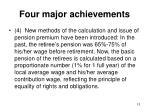 four major achievements5