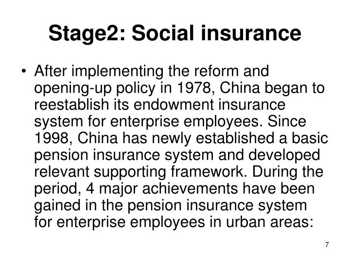 Stage2: Social insurance
