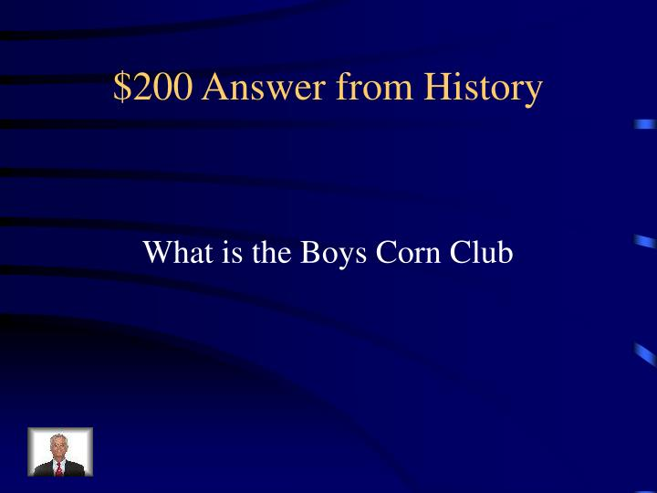 $200 Answer from History