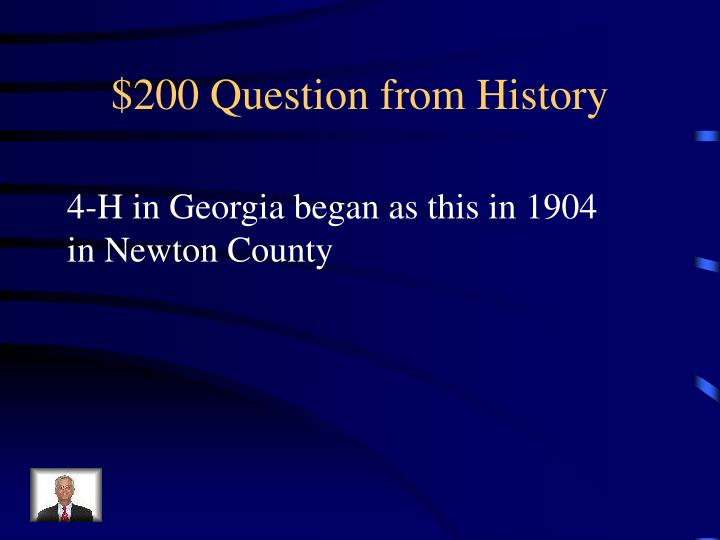$200 Question from History