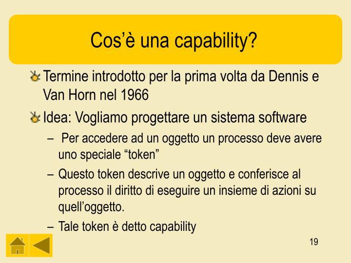 Cos'è una capability?
