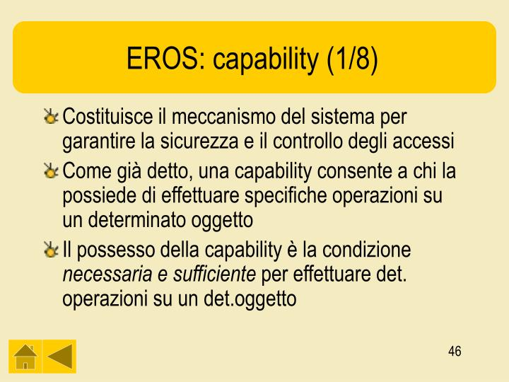 EROS: capability (1/8)