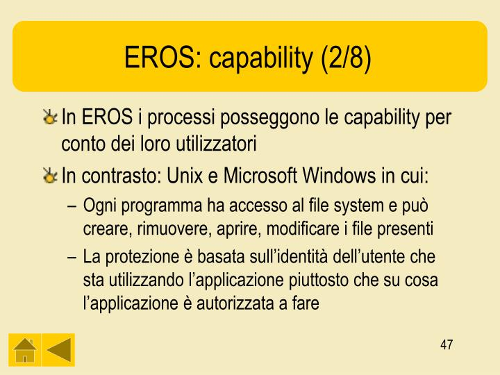 EROS: capability (2/8)