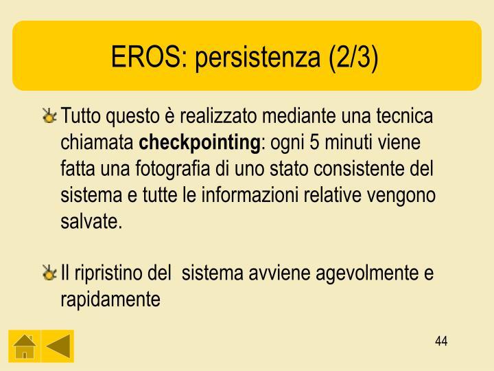 EROS: persistenza (2/3)