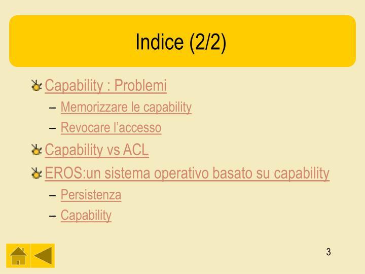 Indice (2/2)