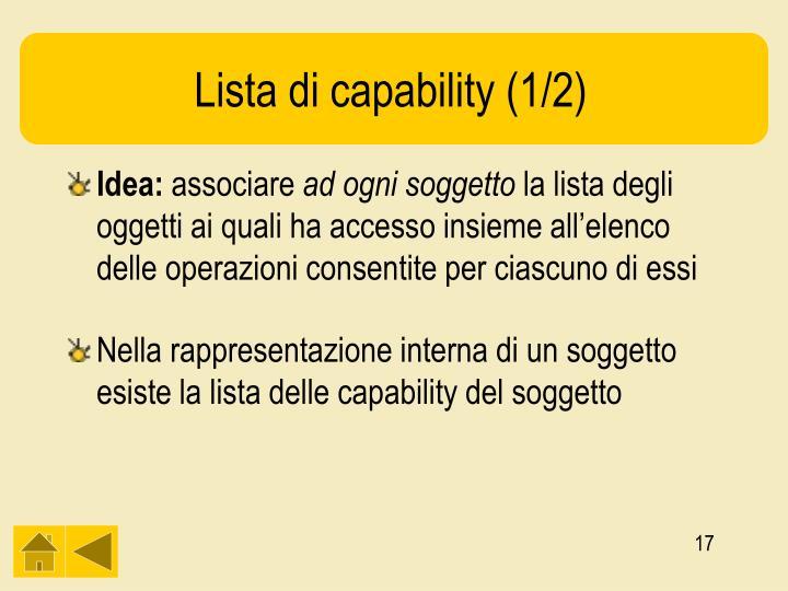 Lista di capability (1/2)