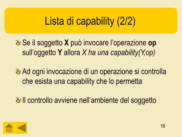 Lista di capability (2/2)