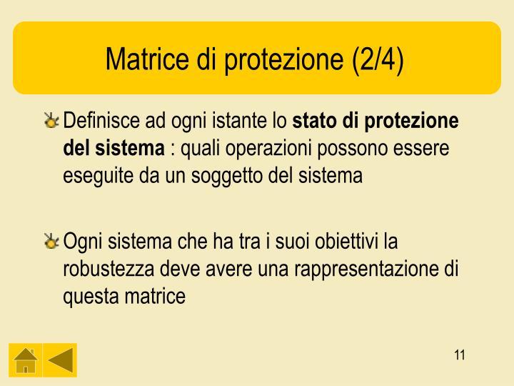 Matrice di protezione (2/4)