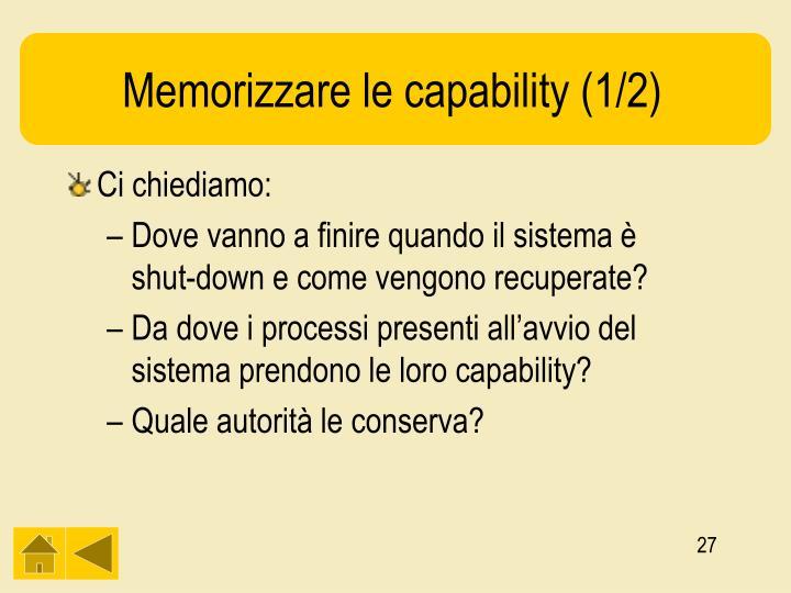 Memorizzare le capability (1/2)
