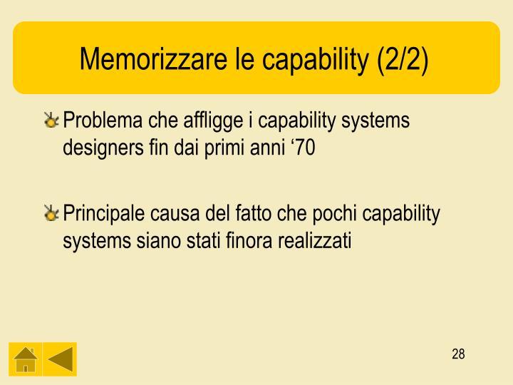 Memorizzare le capability (2/2)