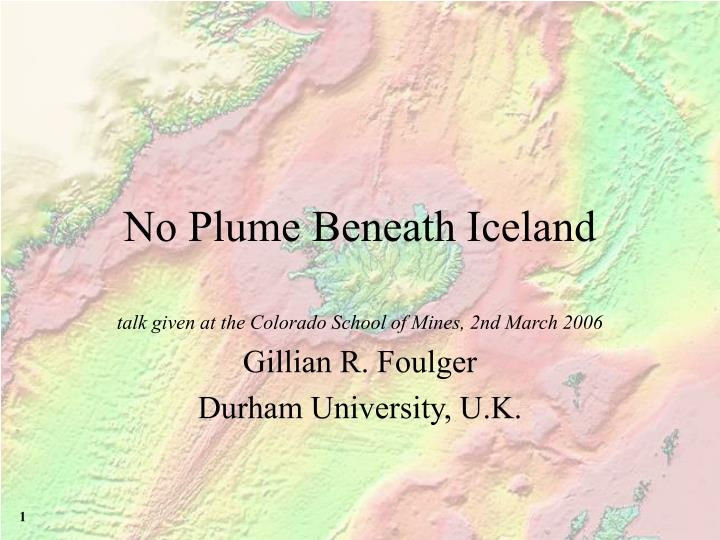 No plume beneath iceland
