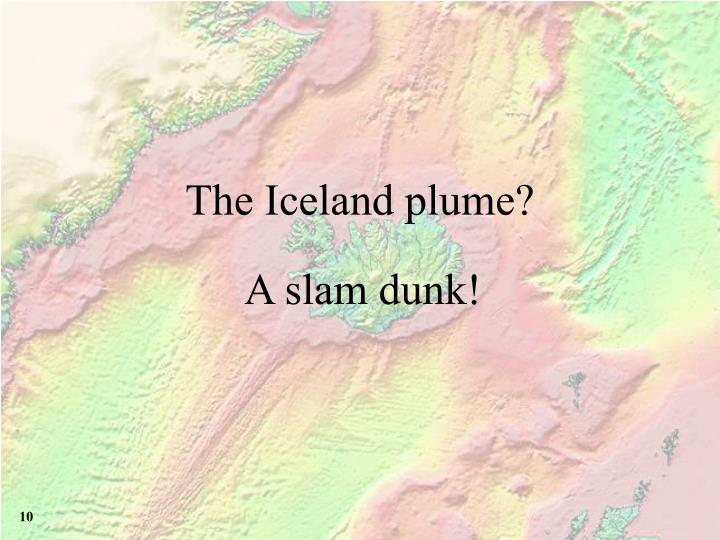 The Iceland plume?