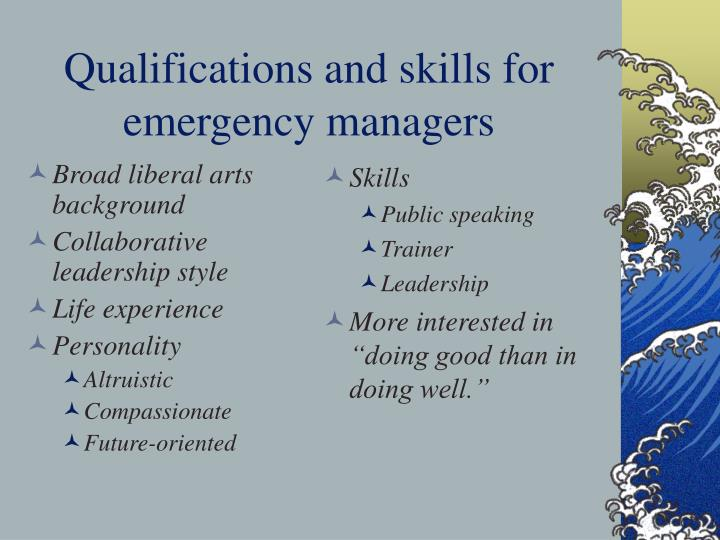 Broad liberal arts background